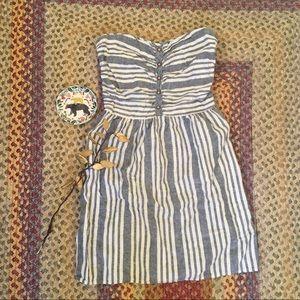 Gap Strapless Linen Blend Dress